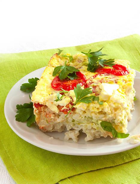 Vegetable casserole stock photo