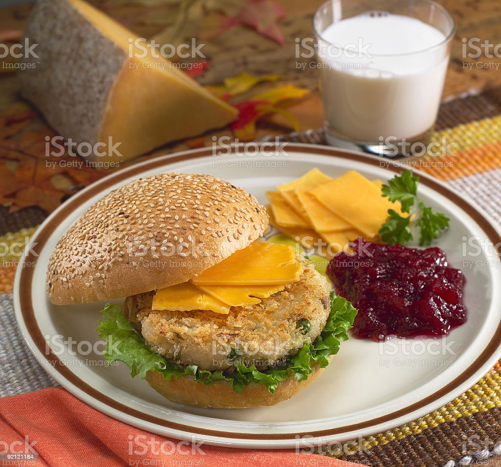 Vegetable Cheese Burger royalty-free stock photo