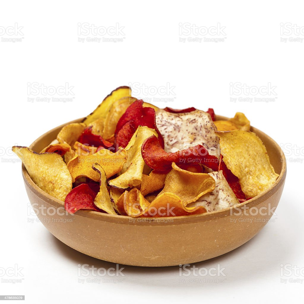 Vegetable Chips stock photo