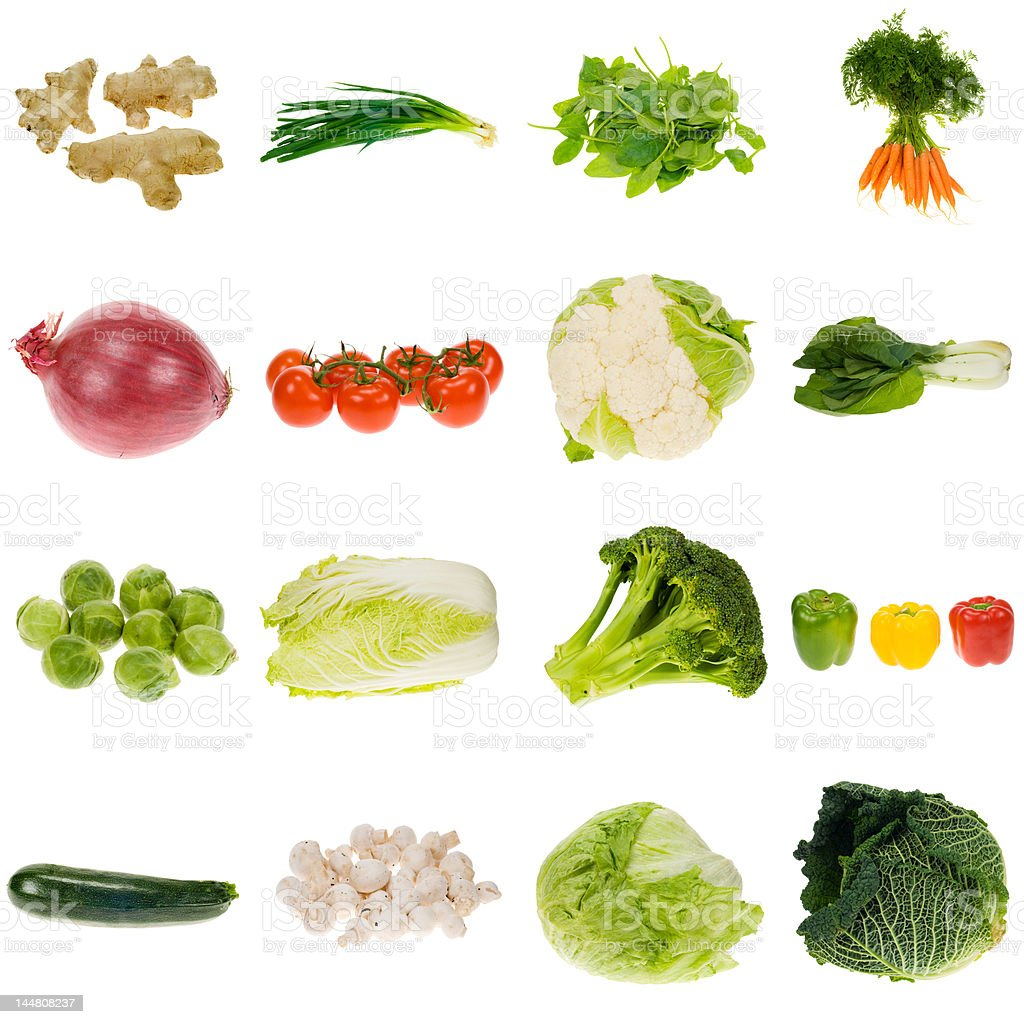 vegetable collection stock photo