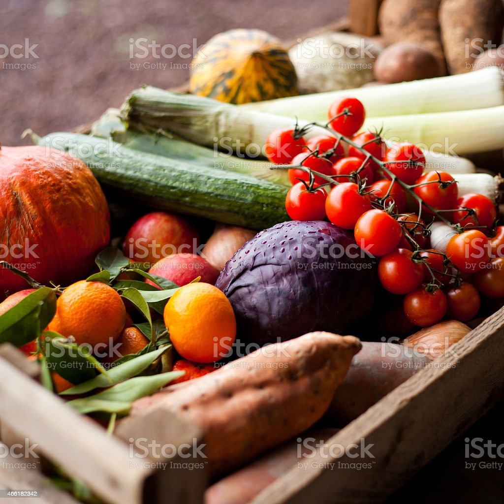 Vegetable composition stock photo