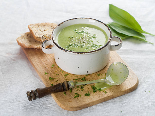 vegetable cream soup stock photo