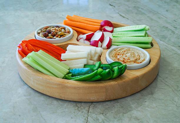 Vegetable Crudites and Dips. – Foto