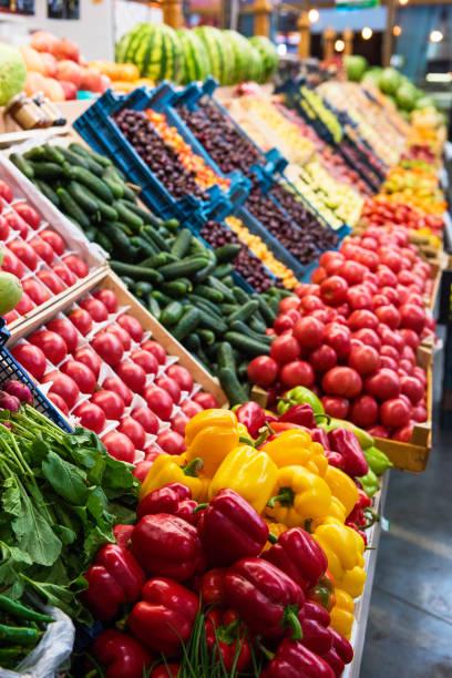 Gemüsebauernmarktzähler – Foto