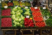 Vegetable fruit in supermarket prices food