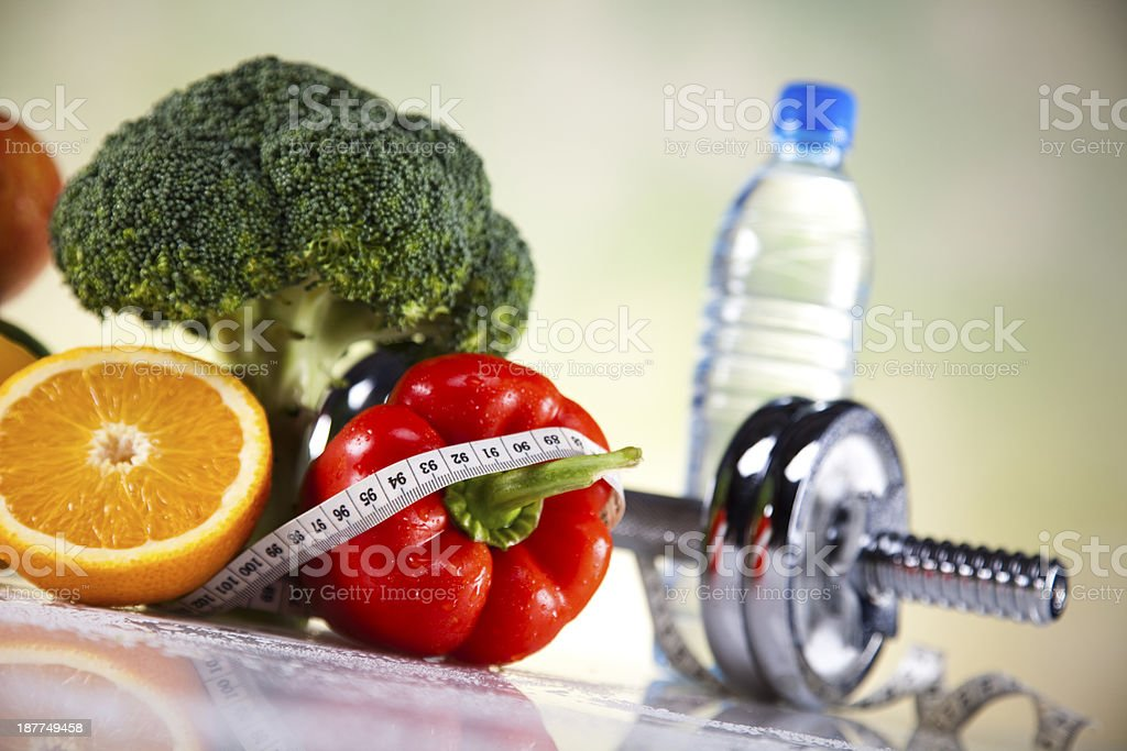 Vegetable, Fruits and fitness royalty-free stock photo