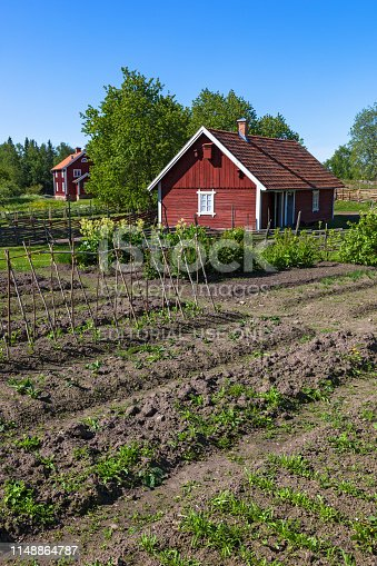 Asensby, Sweden - May 30, 2016: Vegetable Garden in the countryside