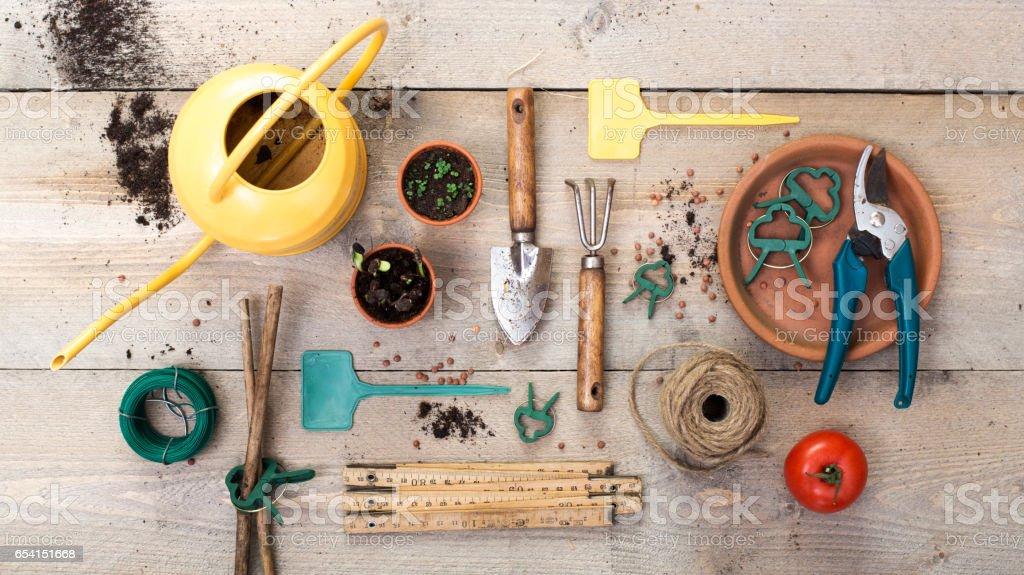 vegetable gardening header stock photo