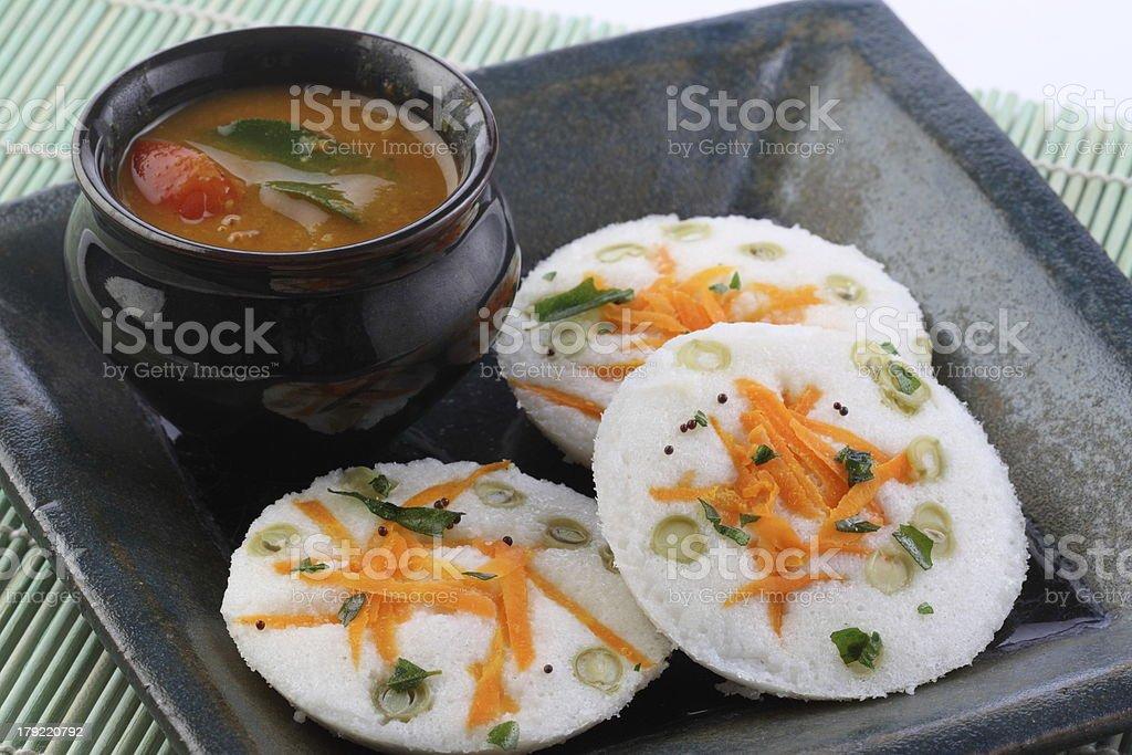 vegetable idli stock photo
