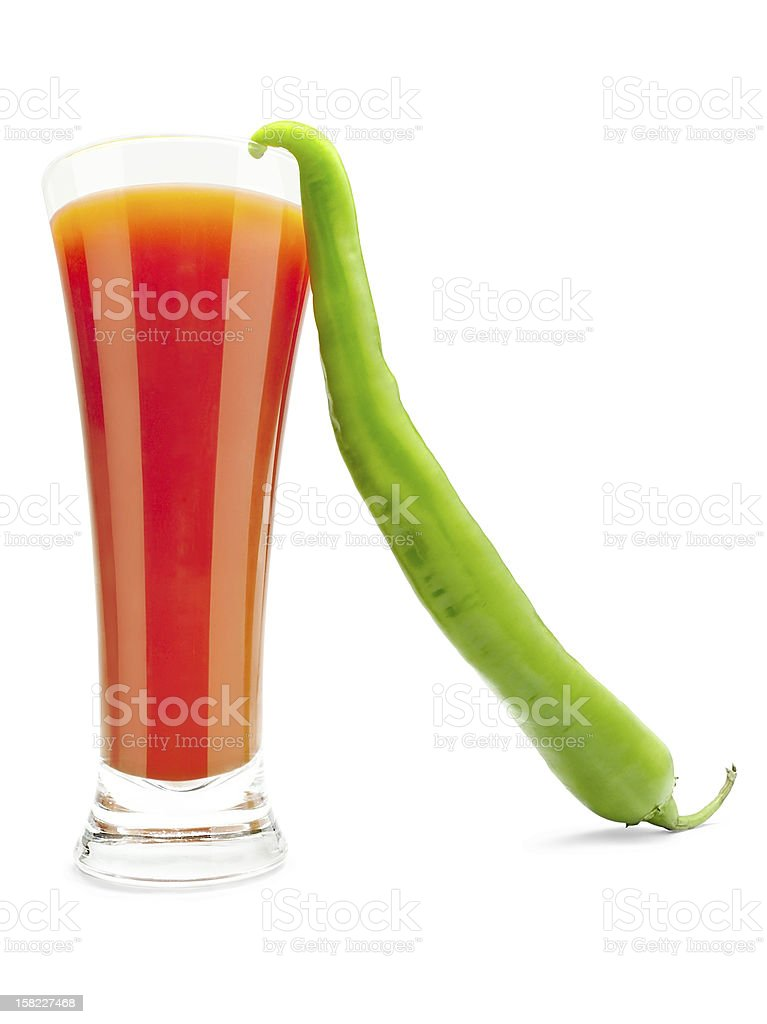 Vegetable juice and pepper royalty-free stock photo