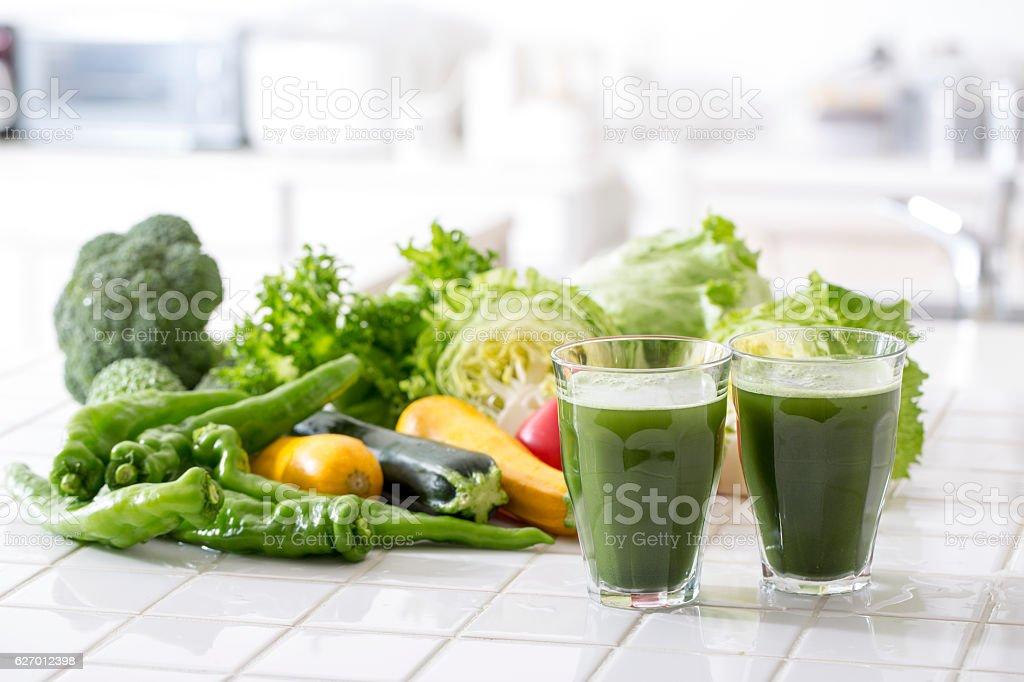 Suco de Vegetais foto royalty-free