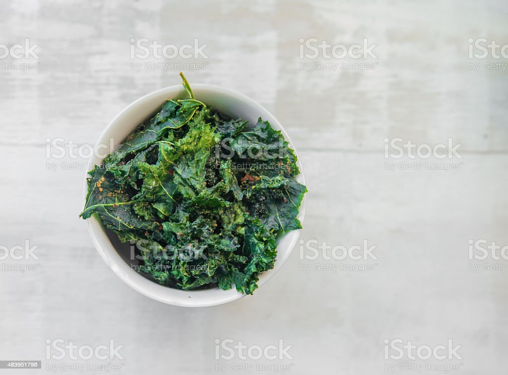 Vegetable Kale Chips stock photo
