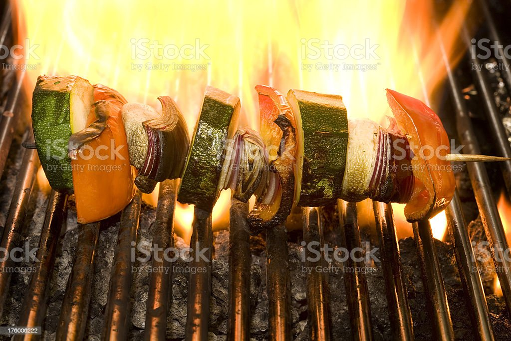 vegetable kebab royalty-free stock photo