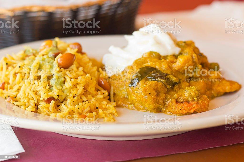 Vegetable Korma stock photo