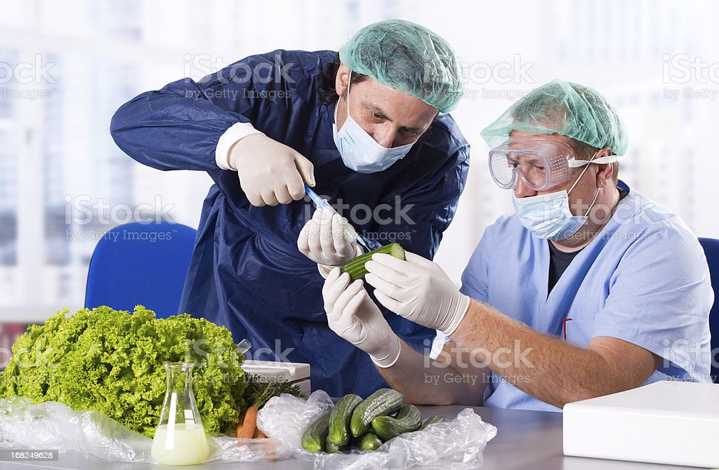 Vegetable laboratory stock photo