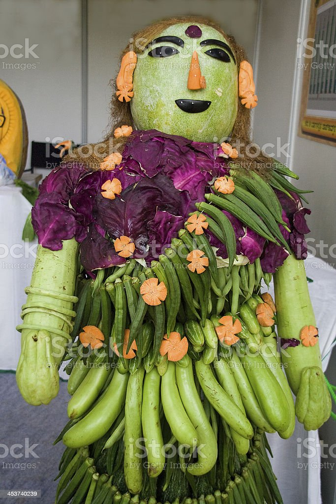 Vegetable Lady royalty-free stock photo