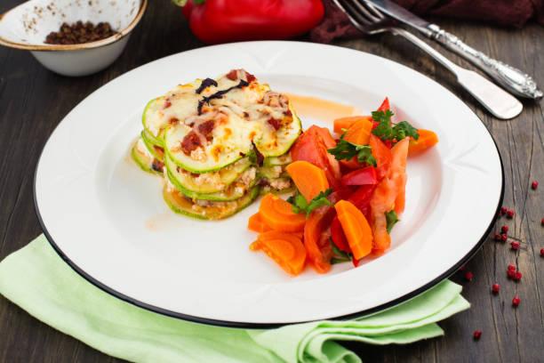 Vegetable lasagna and stewed veggies on a plate picture id913271458?b=1&k=6&m=913271458&s=612x612&w=0&h=89wblfi0vi7uzgspgmszxp7mxsnz0ca1rkwdnzzrhc8=