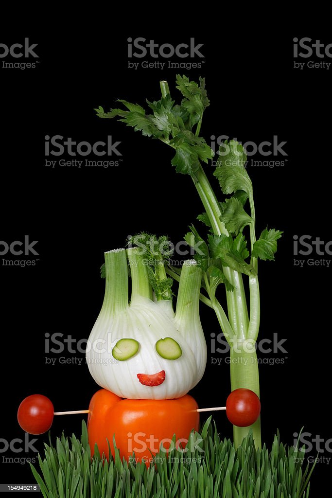 vegetable man royalty-free stock photo