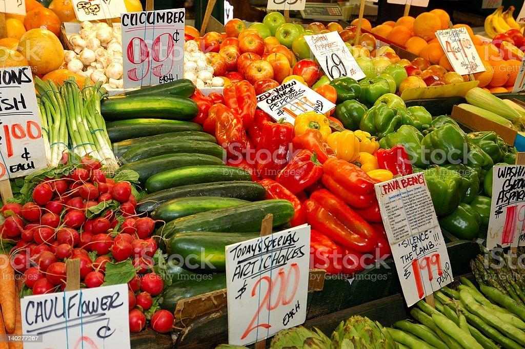 Vegetable market royalty-free stock photo
