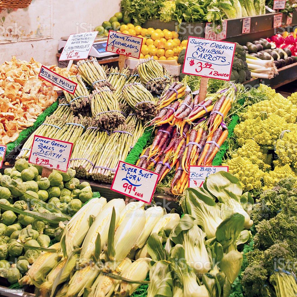 Vegetable market stall - III royalty-free stock photo