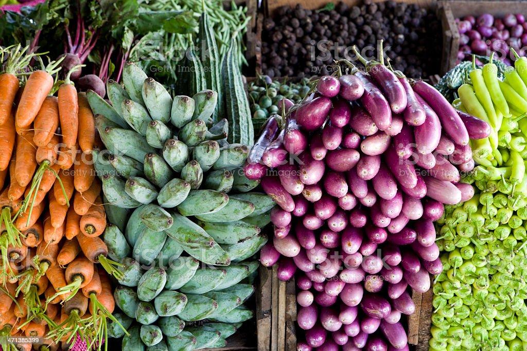 vegetable market stall sri lanka royalty-free stock photo
