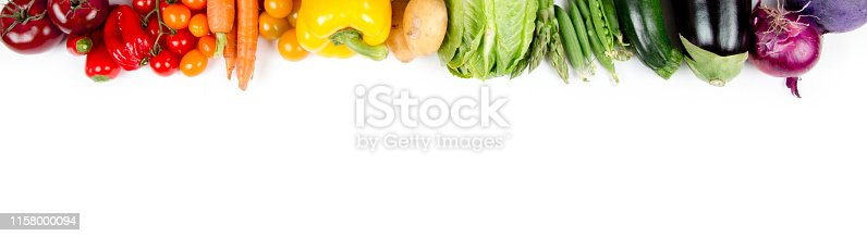 Photo of colorful vegetable mix with white circle space for text