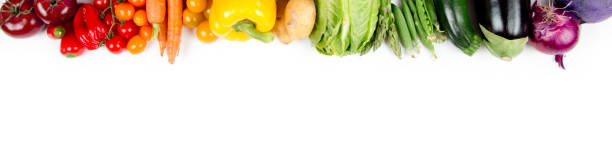Vegetable Mix Photo of colorful vegetable mix with white circle space for text freshness stock pictures, royalty-free photos & images