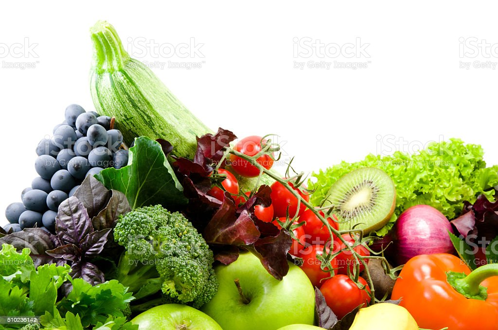 Vegetable mix.Healthy eating.Different sorts of vegetables. stock photo