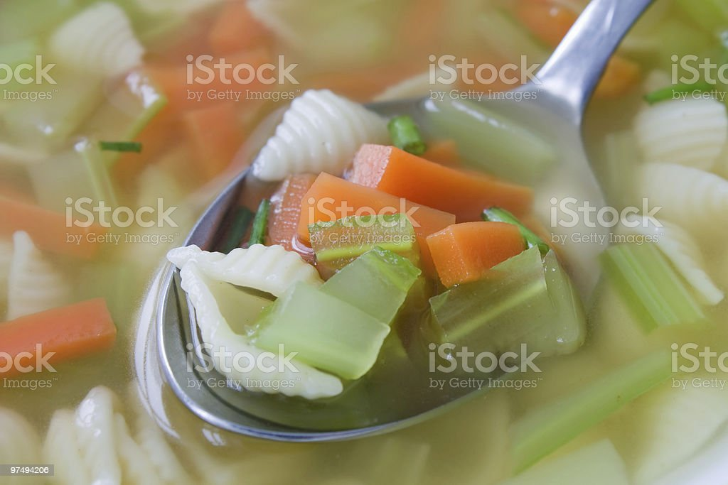 Vegetable Noodle Soup royalty-free stock photo