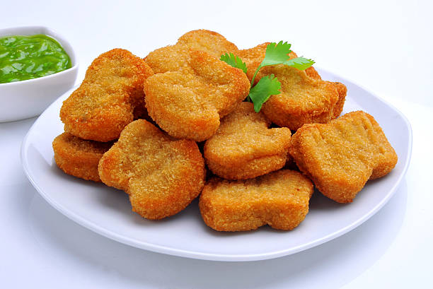 Vegetable Nuggets Delicious and healthy vegetable nuggets fritter stock pictures, royalty-free photos & images