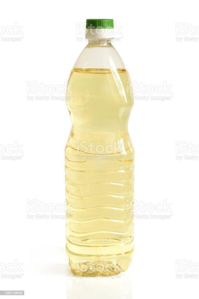 Vegetable oil in plastic bottle royalty-free stock photo