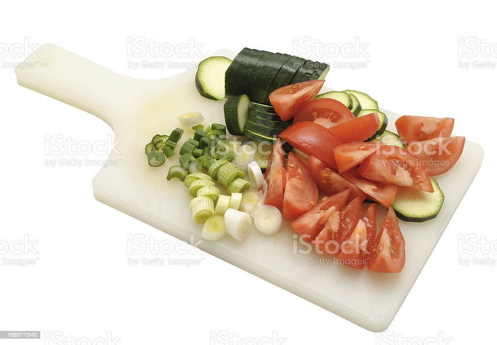 vegetable on a cutting board royalty-free stock photo