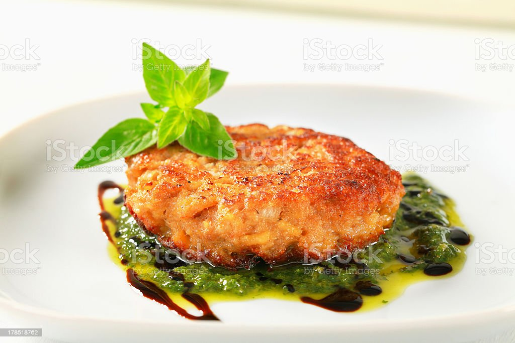 Vegetable patty royalty-free stock photo