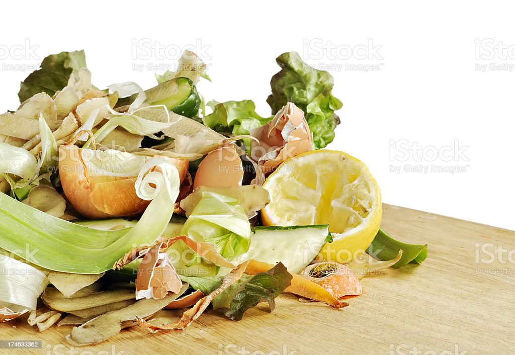 Vegetable Peelings for Compost royalty-free stock photo