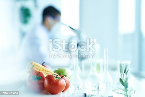 Vegetables prepared for scientific experiment