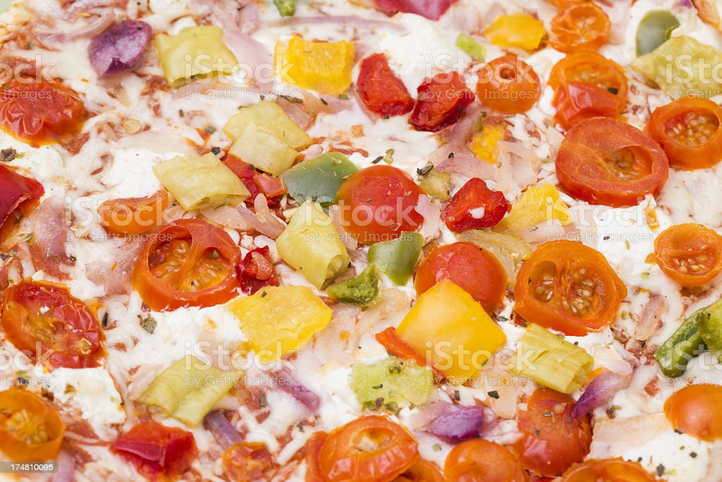 Vegetable pizza close up royalty-free stock photo