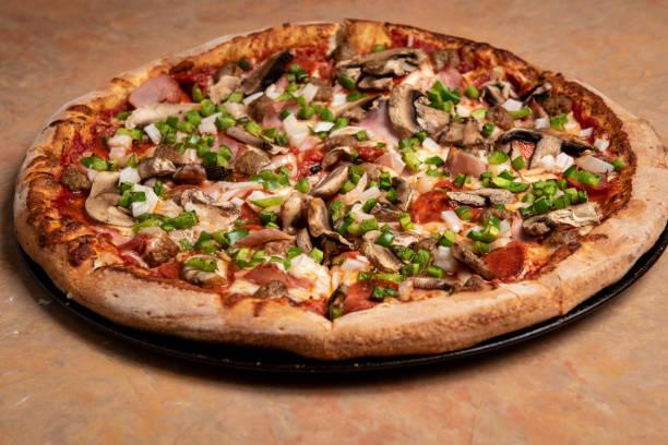 Sebze pizza stok fotoğrafı