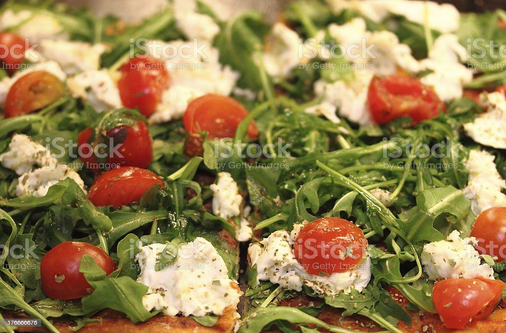 pizza de vegetales foto de stock libre de derechos
