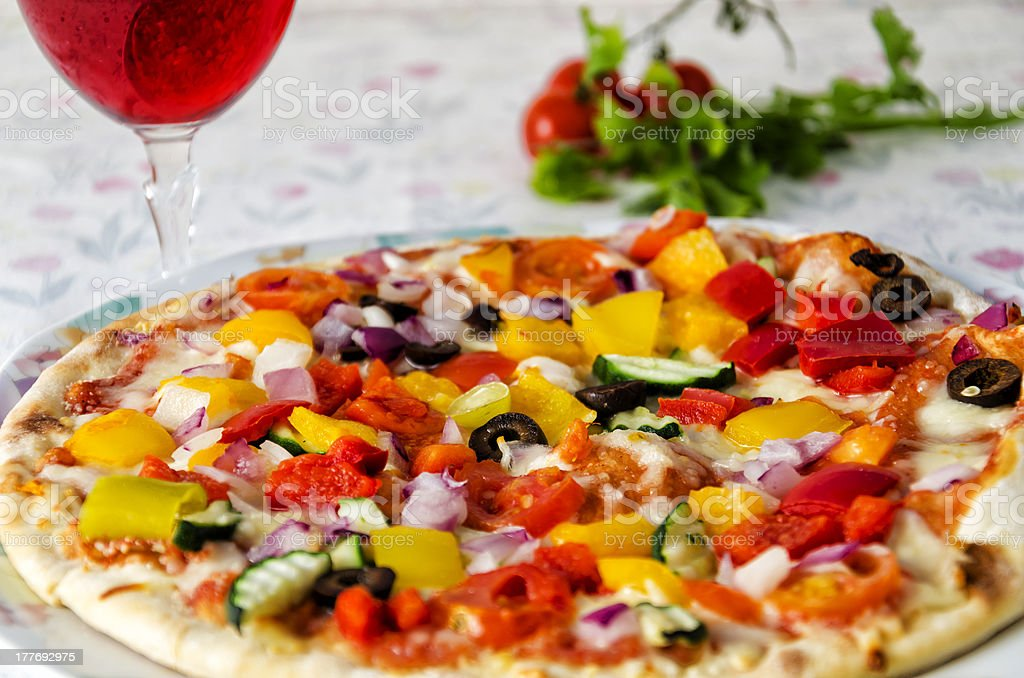 Vegetable Pizza royalty-free stock photo