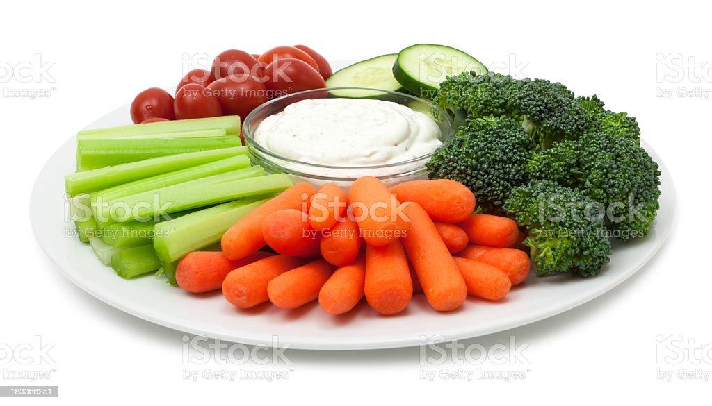 Vegetable plate - Royalty-free Bleekselderij Stockfoto