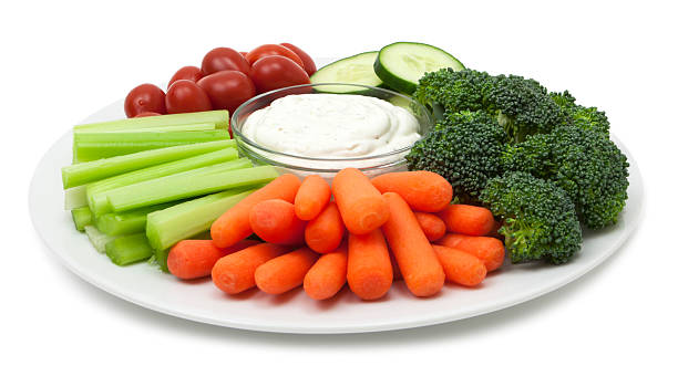 Vegetable plate stock photo