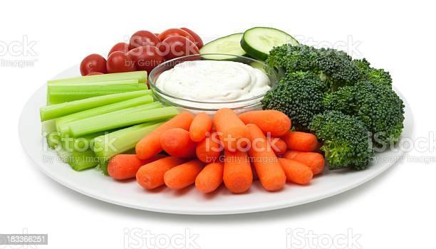 Vegetable Plate Stockfoto en meer beelden van Bleekselderij