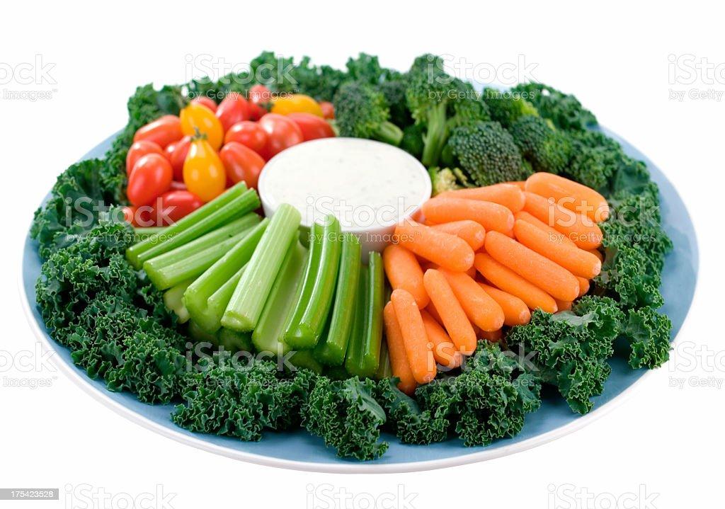 Vegetable Platter & Dip royalty-free stock photo