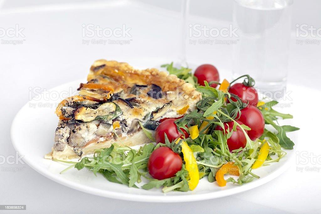 Vegetable Quiche stock photo