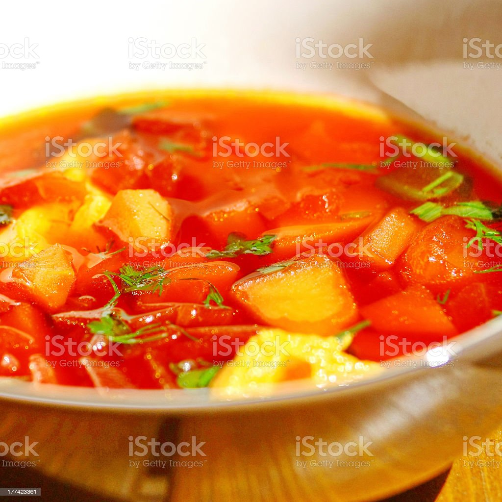 vegetable red-beet soup royalty-free stock photo