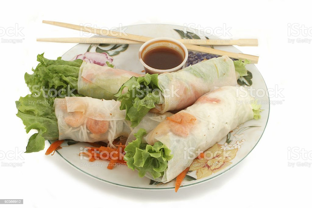 vegetable rolls royalty-free stock photo