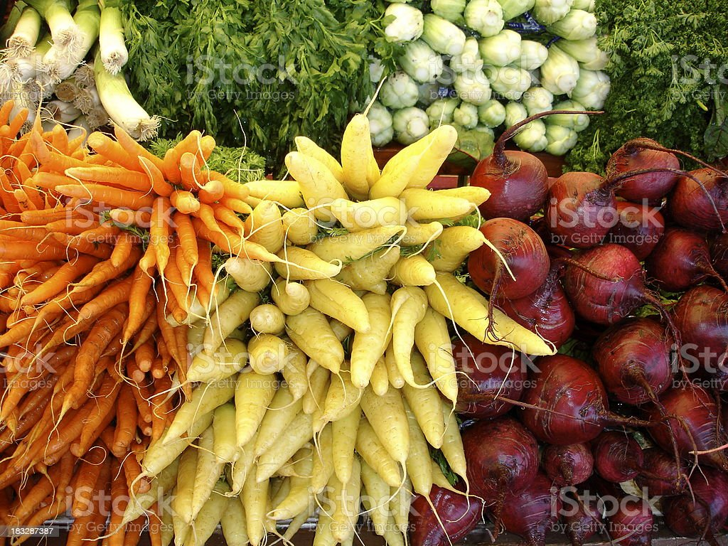 Vegetable Roots Rainbow of Colors royalty-free stock photo