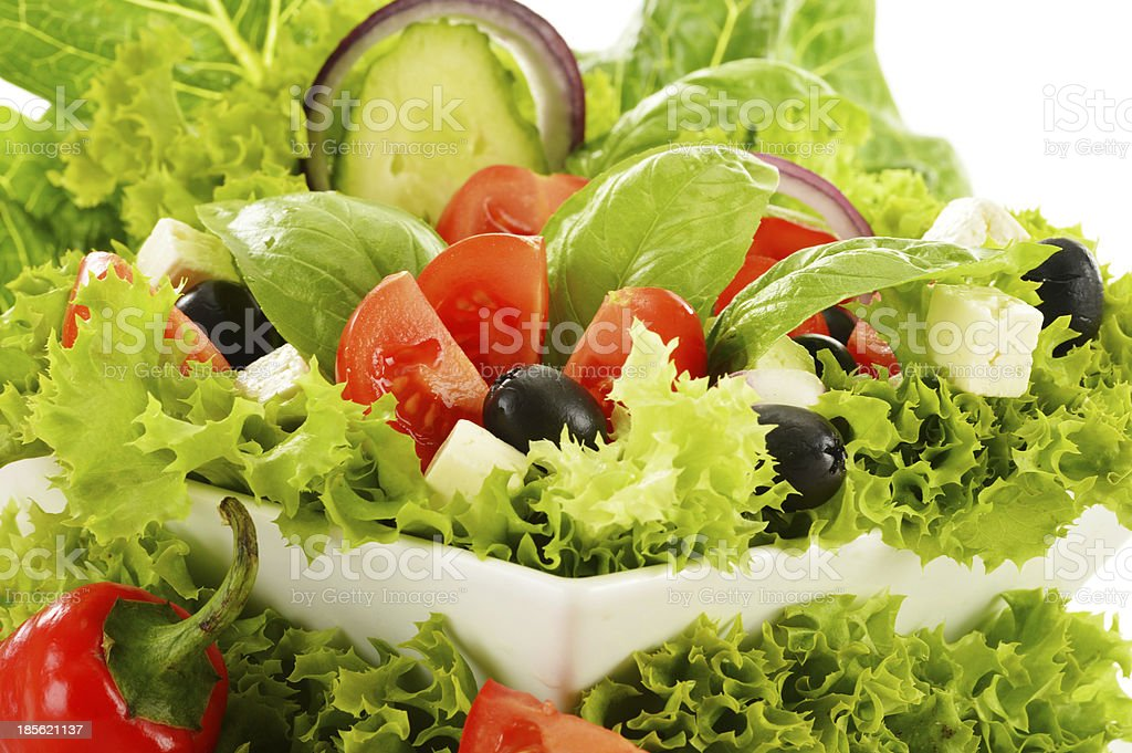 Vegetable salad bowl royalty-free stock photo
