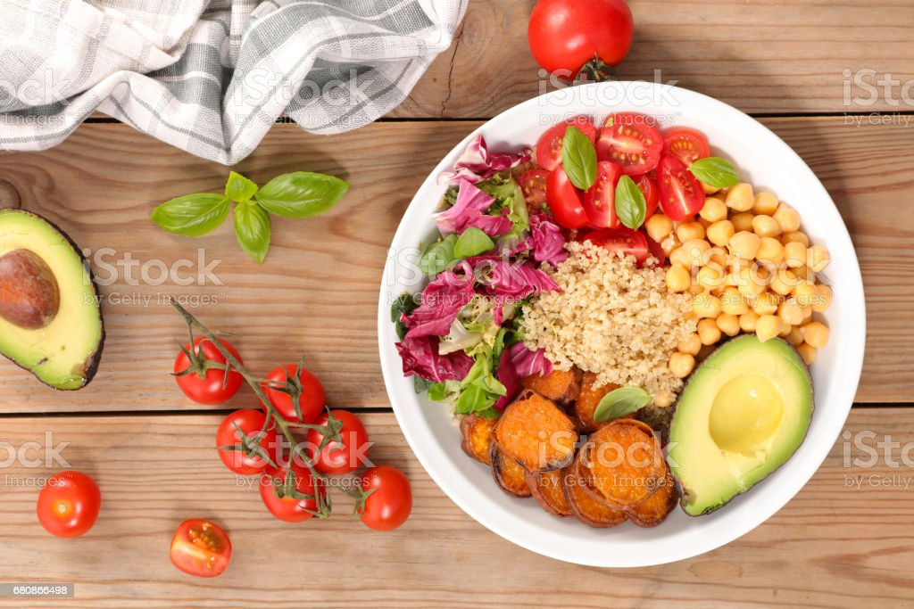 vegetable salad bowl stock photo