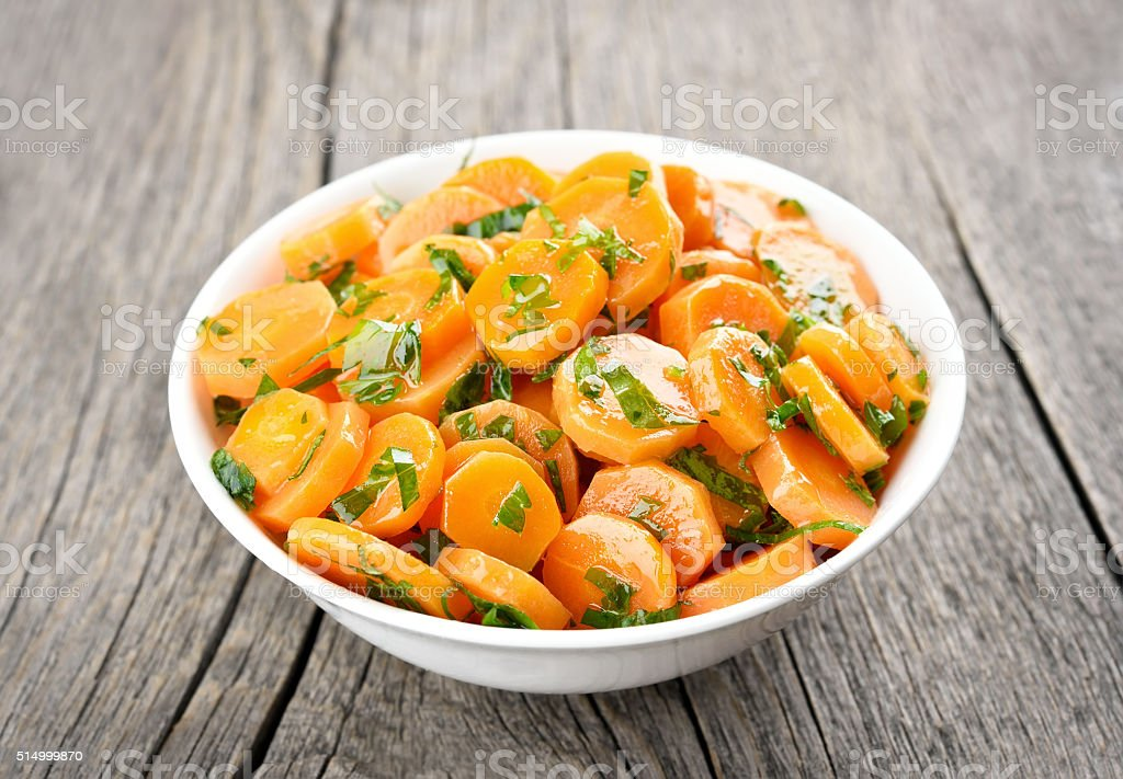 Vegetable salad from carrot stock photo